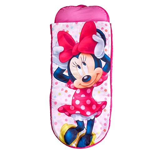 Minnie Mouse 406MTM Junior-ReadyBed - Kinder-Schlafsack und Luftbett in einem, Holz, Rosa, 150 x 62 x 20 cm