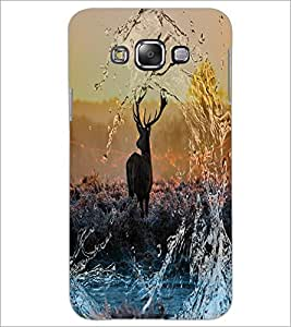 PrintDhaba Deer D-4873 Back Case Cover for SAMSUNG GALAXY E7 (Multi-Coloured)
