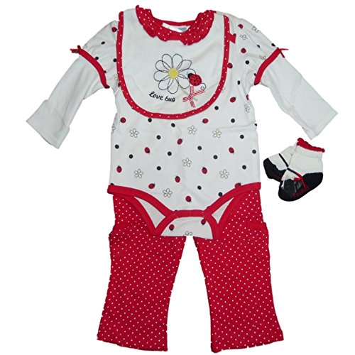 Vitamins Baby Mädchen Outfit Body + Lätzchen + -
