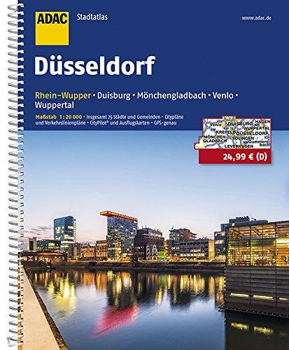 ADAC Stadtatlas Düsseldorf/Rhein-Wupper mit Duisburg, Mönchengladbach, Venlo: Wuppertal 1:20 000 (ADAC Stadtatlanten 1:20.000)