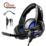 Auriculares Juegos Plegable con Microfono Ajustable para PS4 / PC / Xbox One / Xbox 360, Rodzon...