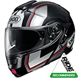 Shoei Neotec Imminent Flip Front Motorcycle Helmet M Black Silver (TC-5)