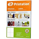 Universal Etiketten 105 x 148,5 mm selbstklebend weiß - 100 DIN A4 Blätter 2x2 105x148,5 - Versandaufkleber / Versandetiketten 3483 6120 4476