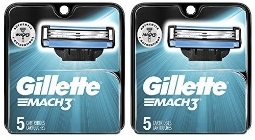 Gillette Mach 3 Rasierer Refill-Patronen 10-Count (Razor Blade Refill-patronen)