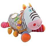Bawi 11049 - Activity Stofftier, Mein Maxi Zebra, 70 x 45 cm, ab 3 Monaten, Kuscheltier