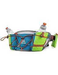 Aonijie Taille Waistpacks Bande de sac d'hydratation Ceinture de course léger Sac durable Ceinture de course à pied 2bouteilles d'eau poches pour téléphone portable.