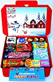 Christmas American Miniatures Candy Gift Box Hamper | Try Lots of American Classics | Letterbox Friendly | Glossy Red Hamper Box | Hershey's Reese's | 16 Items | Mini Hamper Exclusive to CANDYPLANET