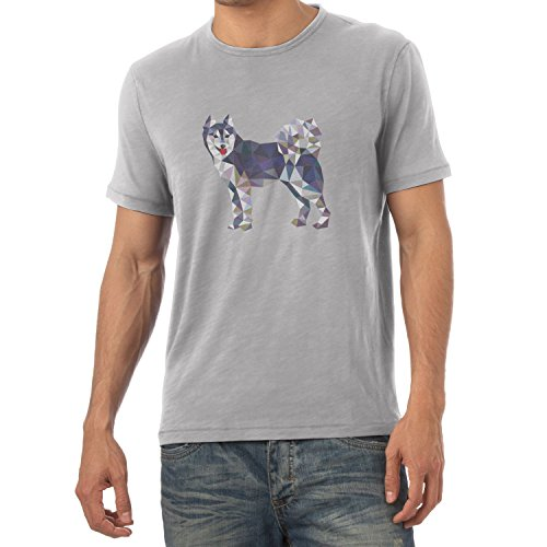 TEXLAB - Poly Dog - Herren T-Shirt Grau Meliert
