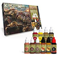 The Army Painter |Kings of War Dwarfs Paint Set | 10 Acrylic Paints for Painting Fantasy Dwarf Infantry and Dwarf Warmachines | Wargames Miniature Model Painting