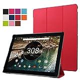 Nexus Pixel C Coque–Witcase Google Nexus Pixel C Tablette Ultra mince et ultra léger PU Cuir Folio Coque support Housse pour Nexus Pixel C Tablette (Rouge)