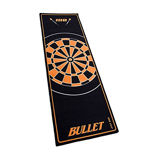 Bullet Hochwertige Turnier Dartmatte 237x80cm in Orange