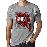 Photo de Homme T Shirt Graphique Imprimé Vintage Tee Thoughts Mirage Gris Chiné par One in the City