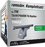 Rameder Komplettsatz, Dachträger SquareBar für VW Transporter T6 Kasten (124911-14351-3)