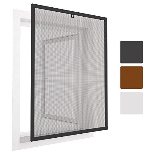 Preisvergleich Produktbild Sol Royal Insektenschutz Fenster SolProtect 120x140 cm - Fliegengitter Anthrazit Alu-Rahmen Bausatz
