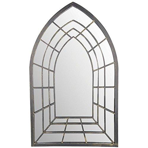 Esschert Design Spiegel Trompe-L'Oeil Goth. aus Metall und Glas, 51,2 x 2,0 x ()
