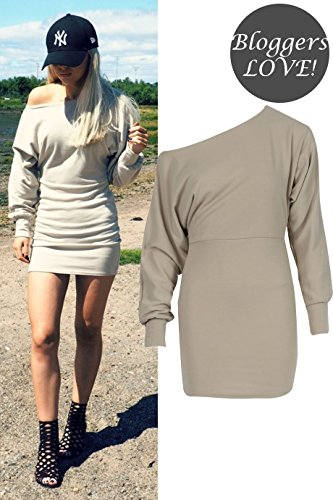 Mesdames Ponte Encolure batwing Robe EUR Taille 36-44 Pierre