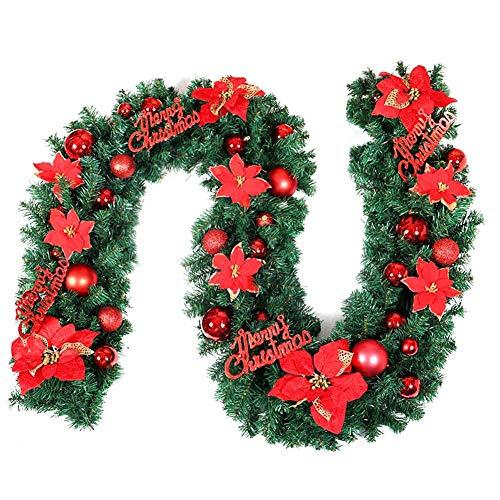 iStary Weihnachtsgirlande Mit Künstliche Tannengirlande Grün Deko Indoor & Outdoor 2,7 Meter Warmweißes Licht Tannengirlande Girlande LED Lichterkette, ()
