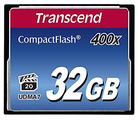 Transcend 32 Go Carte Mémoire CompactFlash (CF) UDMA 7 400x TS32GCF400
