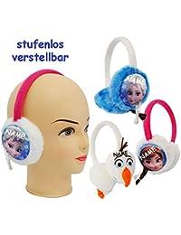 Ohrenschützer -  Disney Frozen - die Eiskönigin - Olaf  - aus Plüsch - universal verstellbar / Einheitsgröße - für Kinder / Mädchen & Jungen - Ohrwärmer - O..
