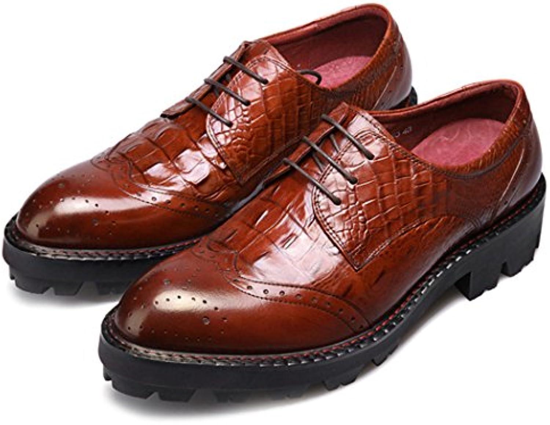 GAOLIXIA Herren Echtes Leder Formale Business Schuhe Arbeitsschuhe Britischen Lace up Freizeitschuhe Mode Kleid