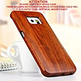 Galaxy S7 case, S7 Wooden Case Wood Cover Coco@100% Unique Genuine Handmade Natural Wood Wooden Hard Bamboo Shockproof Case Like as Artwork for New Samsung Galaxy S7 G9300 (2016)(Sapele Wood)