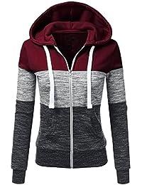 LuckyGirls ❤️• •❤️ Las mujeres del otoño de manga larga con capucha de cremallera fina hoodie sudadera con capucha chaqueta deletrear color de hechizo chaquetas deportivas