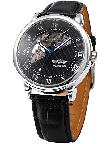 AMPM24 Skelett Elegante Klassisch mechanische Handaufzug Herrenuhr Armbanduhr Uhr + AMPM24 Geschenkbox PMW065