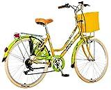 breluxx 26 Zoll Damenfahrrad Venera Fashion Secret Bamboo Citybike Korb