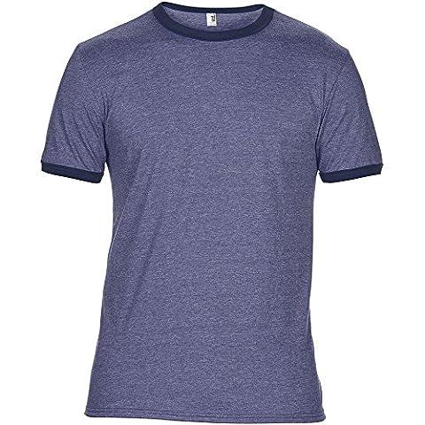 Anvil Mens Adult Lightweight Ringer T Shirt