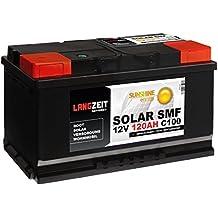 Solarbatterie 120Ah 12V Versorgungsbatterie Wohnmobil Batterie Boot Solar SMF Akku total wartungsfrei 100Ah