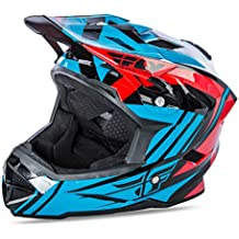 Fly 2017bicicleta por defecto MTB BMX Downhill casco completo de jóvenes color azul/rojo, color Teal/Red, tamaño Small
