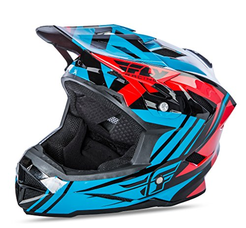 Fly 2017 bicicleta por defecto MTB BMX Downhill casco completo de jóvenes color azul/rojo, color Teal/Red, tamaño Large