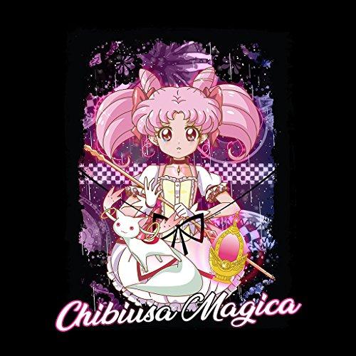 Cloud City 7 Chibiusa Puella Magi Madoka Magica Bow Women's T-Shirt Black