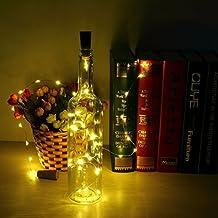 6pcs Botella Luces – 100cm botella de luz Con 20 bombillas LED, lampara botellas para