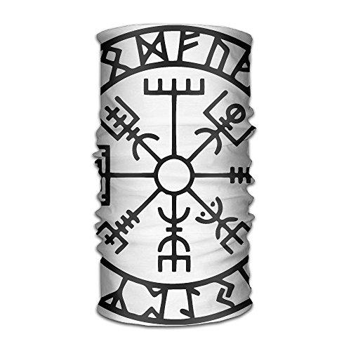 Pengyong Wikinger Runen Symbol Unisex Fashion schnelltrocknend Mikrofaser Kopfschmuck Outdoor Magic Schal Hals Hals Schal Kapuzen Schal Super Soft Griff Fashion Unisex Schal