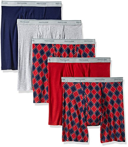 Fruit of the Loom Herren Ringer style Boxer Slip Porzellanperlen Prints and Solids