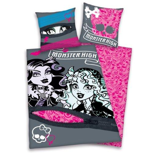 Herding 442721050 Bettwäsche Monster High, Kopfkissenbezug: 80 x 80 cm + Bettbezug: 135 x 200 cm, 100 % Baumwolle, (Frankenstein Monster High)