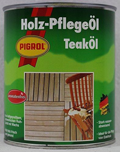 Pigrol Holz-Pflegeöl für außen Teak 750 ml
