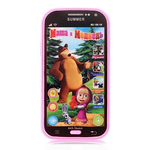 Edited Mein Erstes Smartphone Spieltelefon mit Soundeffekten, Russischen Sprache Baby Smartphone pädagogisches Kleinkindspielzeug (Rosa) Erstes Smartphone