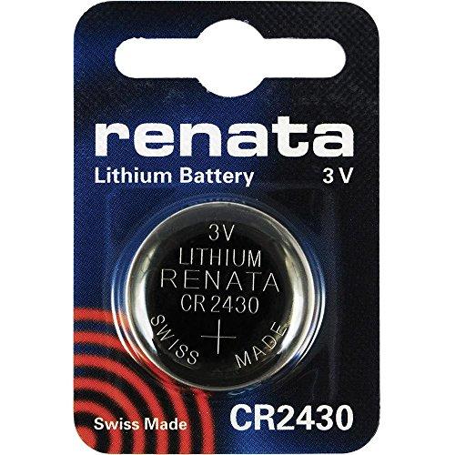 2 Stück Renata Batterie Knopfzelle CR2430 lithium Batterien, 3 V (3 Volt Lithium Batterie Cr2016)