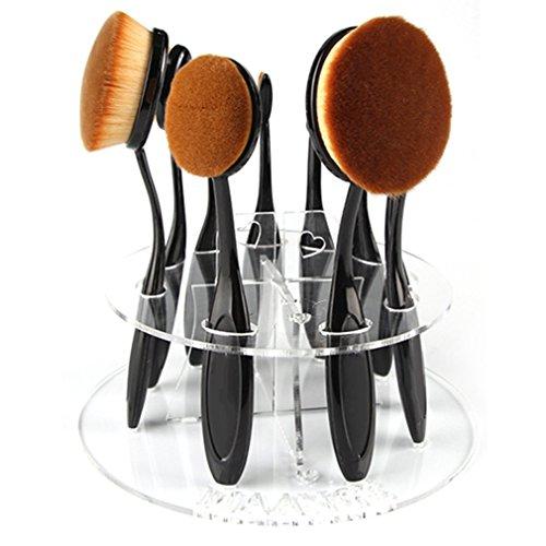 Ulable nuovo 10foro ovale per makeup brush holder organizer per cosmetici mensola tool