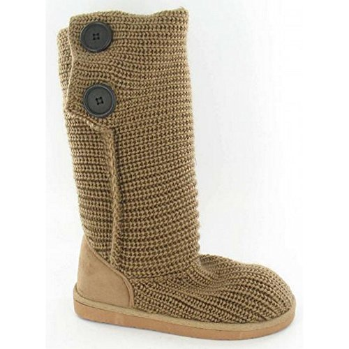 Spot On - Bottes en tricot - Fille Beige