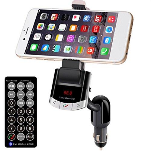 ELECTROPRIME® Universal in-Car FM Transmitter Phone Mount Holder Bracket 5V 1A USB Charger