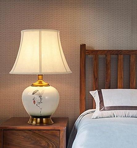 Lozse European, ceramic, desk lamp, bedroom, bedside lamp, living room,