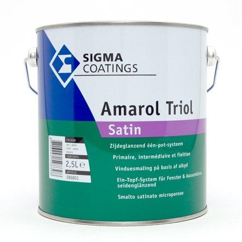 Tolle Satin (SIGMA Amarol Triol Satin 2,5 Liter Weiß)