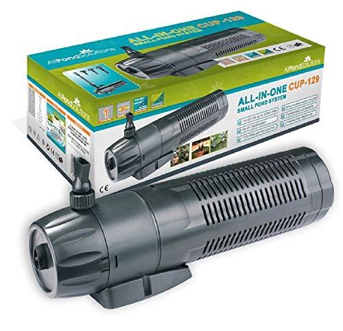 All Pond Solutions CUP-129 - Bomba para Estanque con Filtro, esterilizador de UV y Fuente, 1000l/h