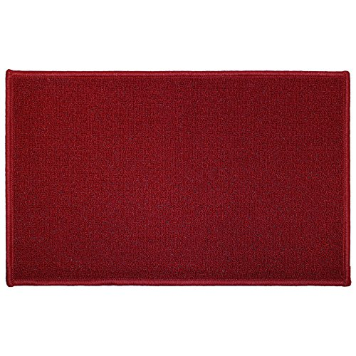 Tapis Déco Tapis Deco Rectangle Polyester Rouge 50 x 80 cm