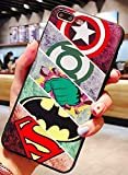 Art-design Coque iPhone 7 et iPhone 8 Batman Superman Spiderman Catwoman Captain America Hulk Iron Man Thor Flash Marvel Comics Super Heros Silicone Souple