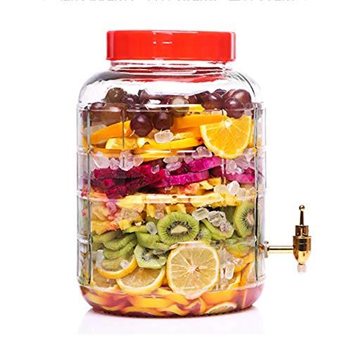 GXYGWJ Weinflasche Getränkeautomat Kaltes Getränk Saft Bier Wein Limonade Weißwein Kaffee Glas Dispenser 5L-25L Getränkespender (Color : 25L, Size : Copper Spigot) - Glas Dispenser Spigot