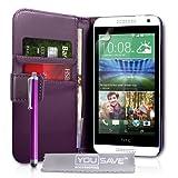 Yousave Accessories HT-DA03-Z451P Etui en cuir pour HTC Desire 610 Violet